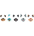 animal face masks for social networks chat filter vector image