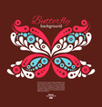Background with beautiful butterfly vector image