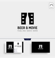 beer glass movie wine cinema simple creative vector image vector image