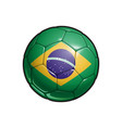 brazilian flag football - soccer ball vector image