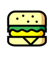 burger icon isolated on white background from vector image vector image