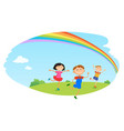 children play clouds design over sky background vector image