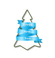 christmas tree with a ribbon vector image vector image