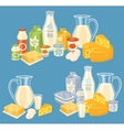 Dairy products isolated vector image