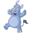 Dancing rhino vector image