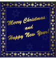 dark blue christmas card vector image vector image