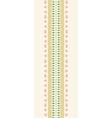 Decor Stripes Vertical Seamless Pattern Border vector image vector image
