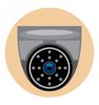 Digital silver and black surveillance vector image vector image