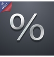 Discount percent icon symbol 3D style Trendy vector image vector image
