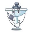 doctor cartoon sink in the kitchen room vector image