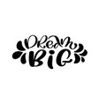 dream big hand lettering quote fashion graphics vector image