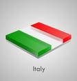European flags set - Italy vector image