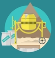 Flat for construction site Concrete mixer vector image