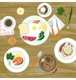 food in flat style Top view vector image