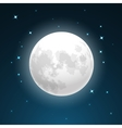 Full moon and stars vector image vector image