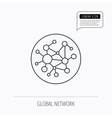 Global network icon Social connections sign vector image vector image