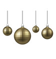 golden christmas balls set vector image vector image