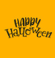 halloween abstract logo vector image vector image