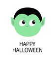 happy halloween count dracula round head cute vector image vector image