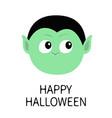 happy halloween count dracula round head cute vector image