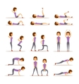 Home workout woman vector image vector image