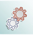 icon mechanical gears vector image vector image