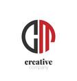 initial letter cm creative elegant circle logo vector image vector image