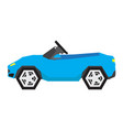 isolated geometric car toy vector image