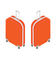 isometric travel suitcase vector image vector image