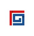 letter g square monogram logo vector image vector image