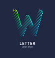letter w latin alphabet display vector image