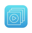 Media player line icon vector image vector image