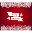 Merry Christmas snowflake border vector image