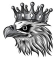 monochromatic logo queen eagles vector image vector image