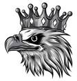 monochromatic the logo queen eagles vector image vector image