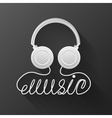 music headphones black background vector image