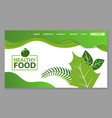 natural organic products healthy food web page vector image