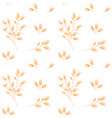 oat pattern cereal plants oatmeal vector image vector image