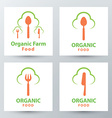 Organic food symbol icon vector image vector image