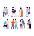 people comforting man support comforted shoulder vector image vector image