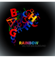 rainbow numbers background vector image vector image