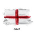 realistic watercolor painting flag of england vector image vector image