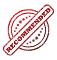 Recommended damaged stamp vector image vector image