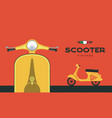 retro scooter image vector image vector image