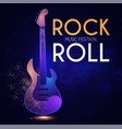rock n roll poster template electric guitar vector image