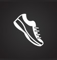 running shoes on black background vector image