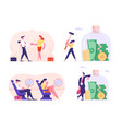 set business people travel airplane vector image vector image