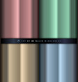 set gradient pink green blue and gold vector image