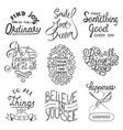 set inspirational typography slogans for vector image vector image