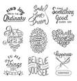 set inspirational typography slogans vector image